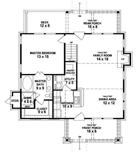 Built Green Home Plan View Little House Plans House Plans Narrow Lot House Plans