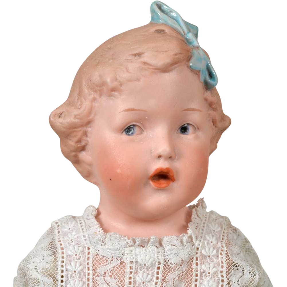 Singing Heubach Character Doll 11.5 Inch