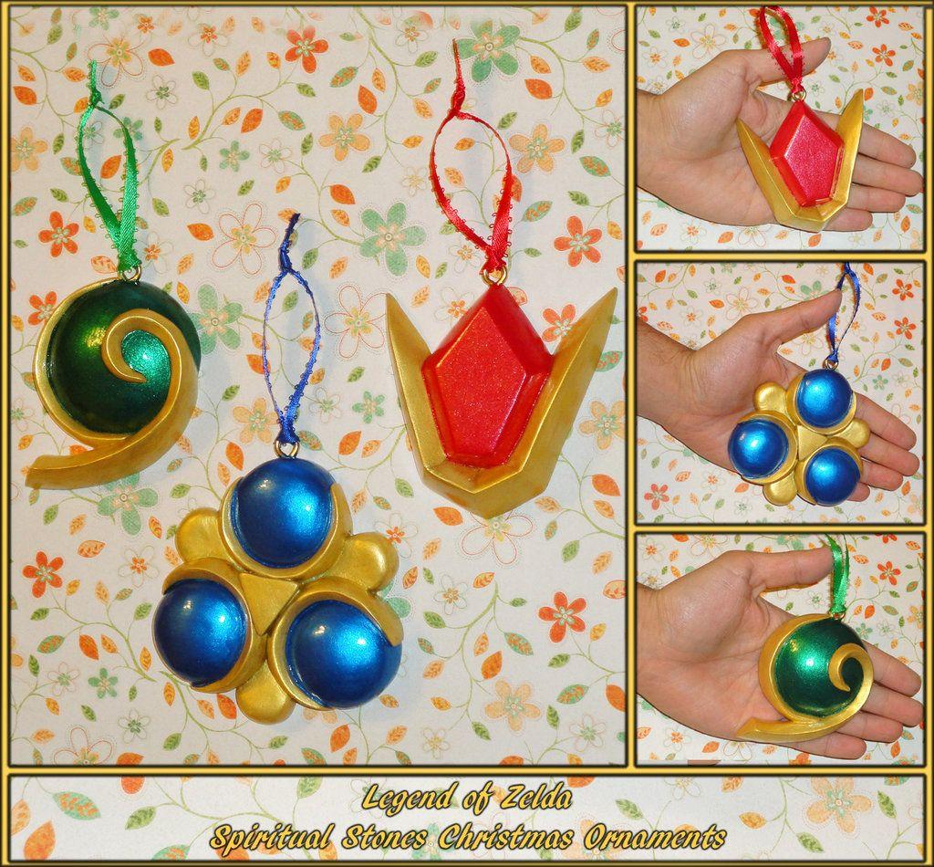 Zelda  Spiritual Stones Ornament Set by YellerCrakkadeviantart