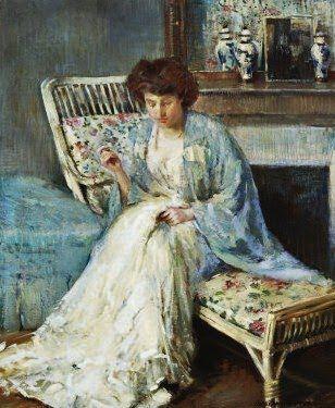 Adolph Borie (American artist, 1877-1934) Mending