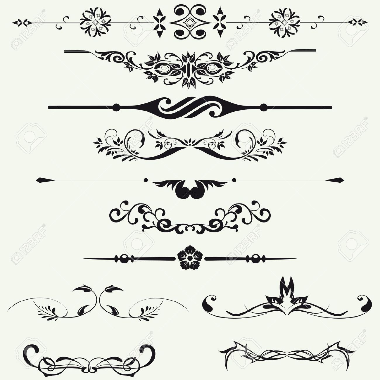 Borders And Elements For Design Vector Clip Art Borders Flower Doodles Inspirational Tattoos