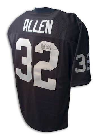 the best attitude e5647 278c3 Autographed Marcus Allen Oakland Raiders Throwback Black ...