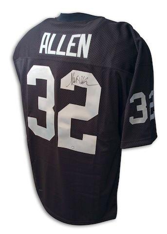 the best attitude 377c0 c332c Autographed Marcus Allen Oakland Raiders Throwback Black ...