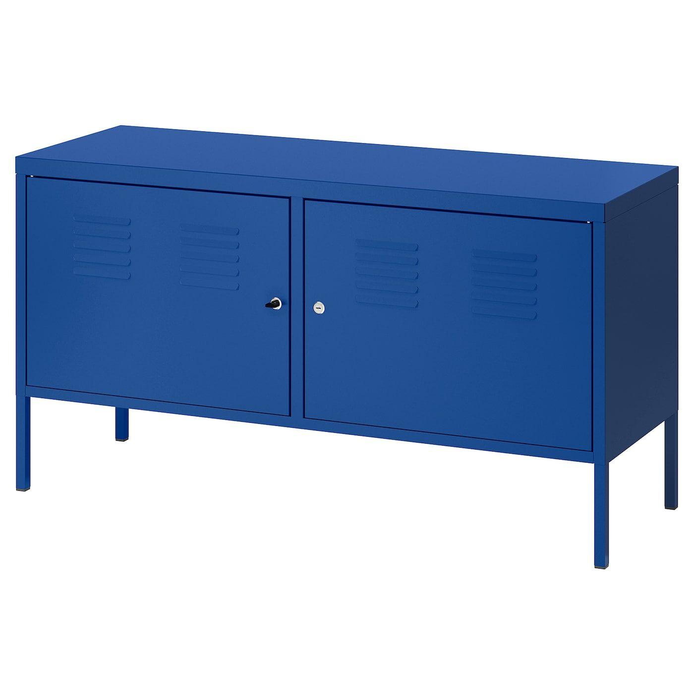 Ps Armoire Metallique Bleu 119x63 Cm Armoire Metallique Mobilier De Salon Meuble Rangement Ikea