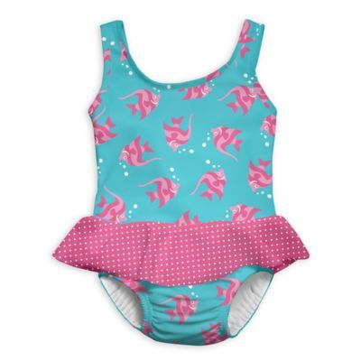 d7f5daf19e Size 24M 1-Piece Angelfish Skirty Swimsuit With Built-In Swim Diaper In Aqua