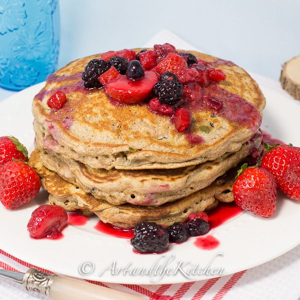 Fuel To Go Pancakes - these are unbelievably fluffy, full of superfoods and no sugar added!