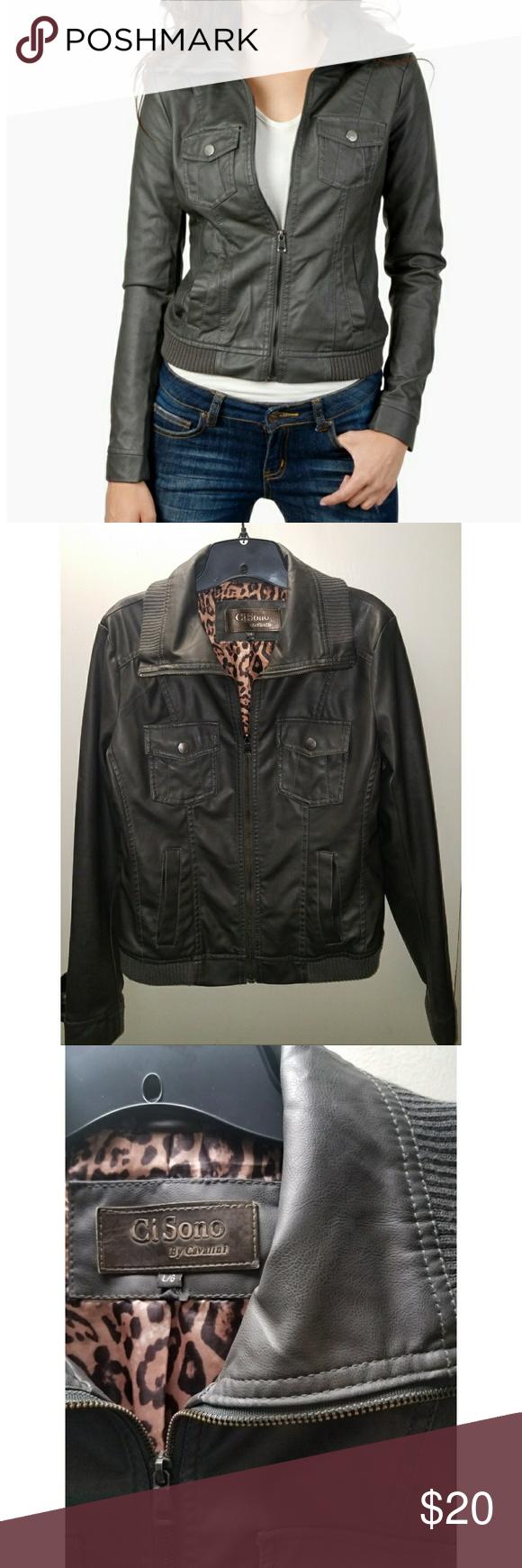 Ci Sono Faux Leather Jacket By Cavalini Leather Jacket Faux Leather Jackets Jackets