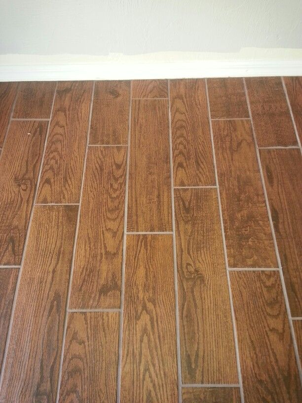 Buyer Beware Home Depot Porcelain Wood Look Tile Customs Brand Tobacco Brown Grout Had This Installed The Gr