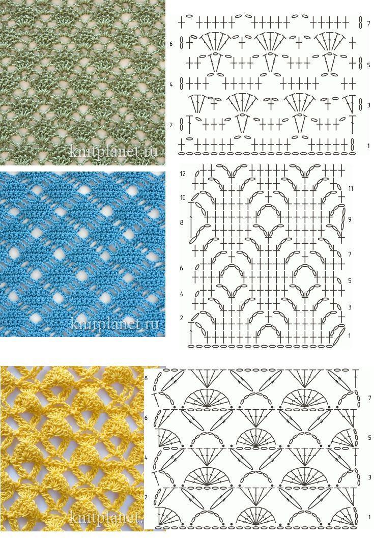 Puntos a crochet muy bonitos | paños crochet | Pinterest | Bonito ...
