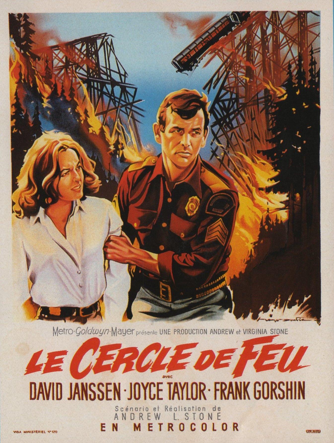 Roger Soubie Affichistes Cerco De Fuego Ring Of Fire 1961 Afiche De Pelicula Afiches Cine