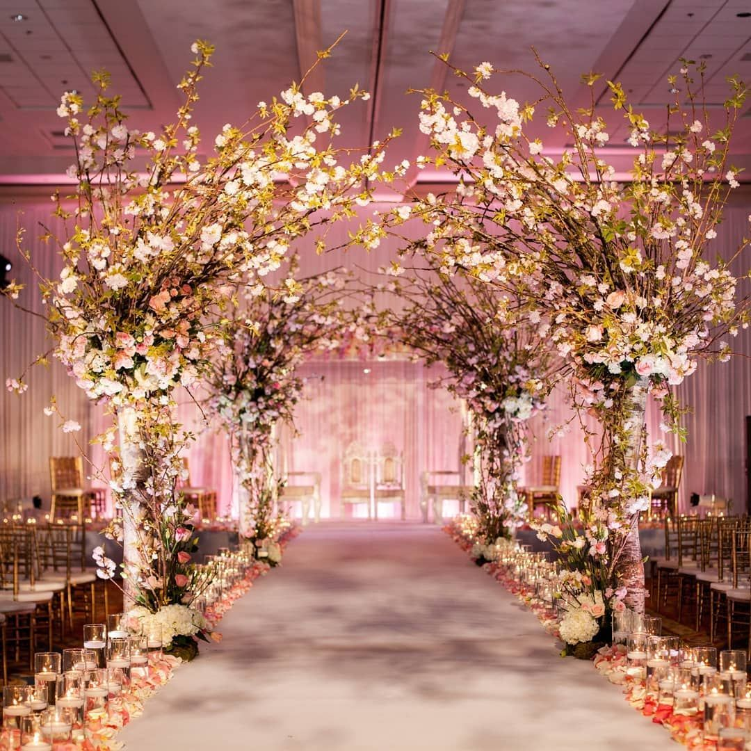 Image may contain: indoor | Wedding decorations, Wedding ceremony, Wedding  aisle