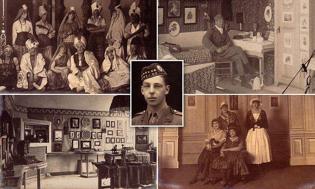 First World War photos show life in German POW camp