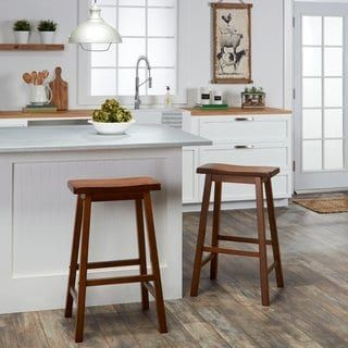 Salvador Saddle 29 Inch Counter Height Backless Stools Set Of 2 By Inspire Q Bold Black Dining Room Bar Bar Furniture Stool