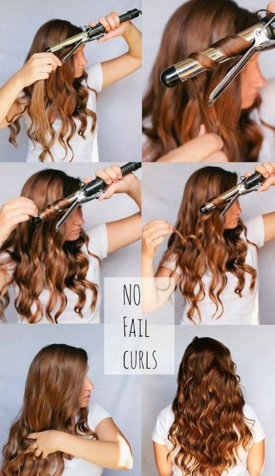 How To Curl Your Hair Using Curling Iron 1 Beachy Waves 2 Spiral Curls Hair Styles Easy Curls Long Hair Styles
