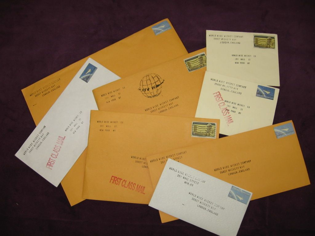 letters for the mail room