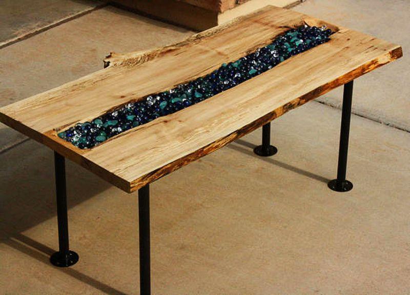 live edge river coffee table build