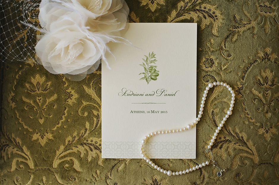 Elegant invitation card for a wedding at