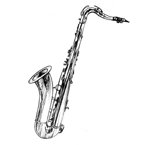 Daily drawing week 8 saxophone 4 tenor ii sketchy sax - Dessin saxophone ...