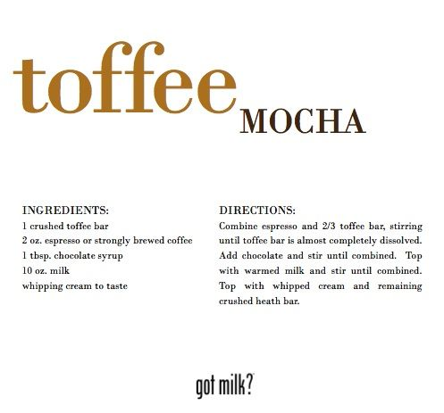 Join Me For Coffee Recipes... Toffee Mocha (1) From: My Favorite Everything, please visit