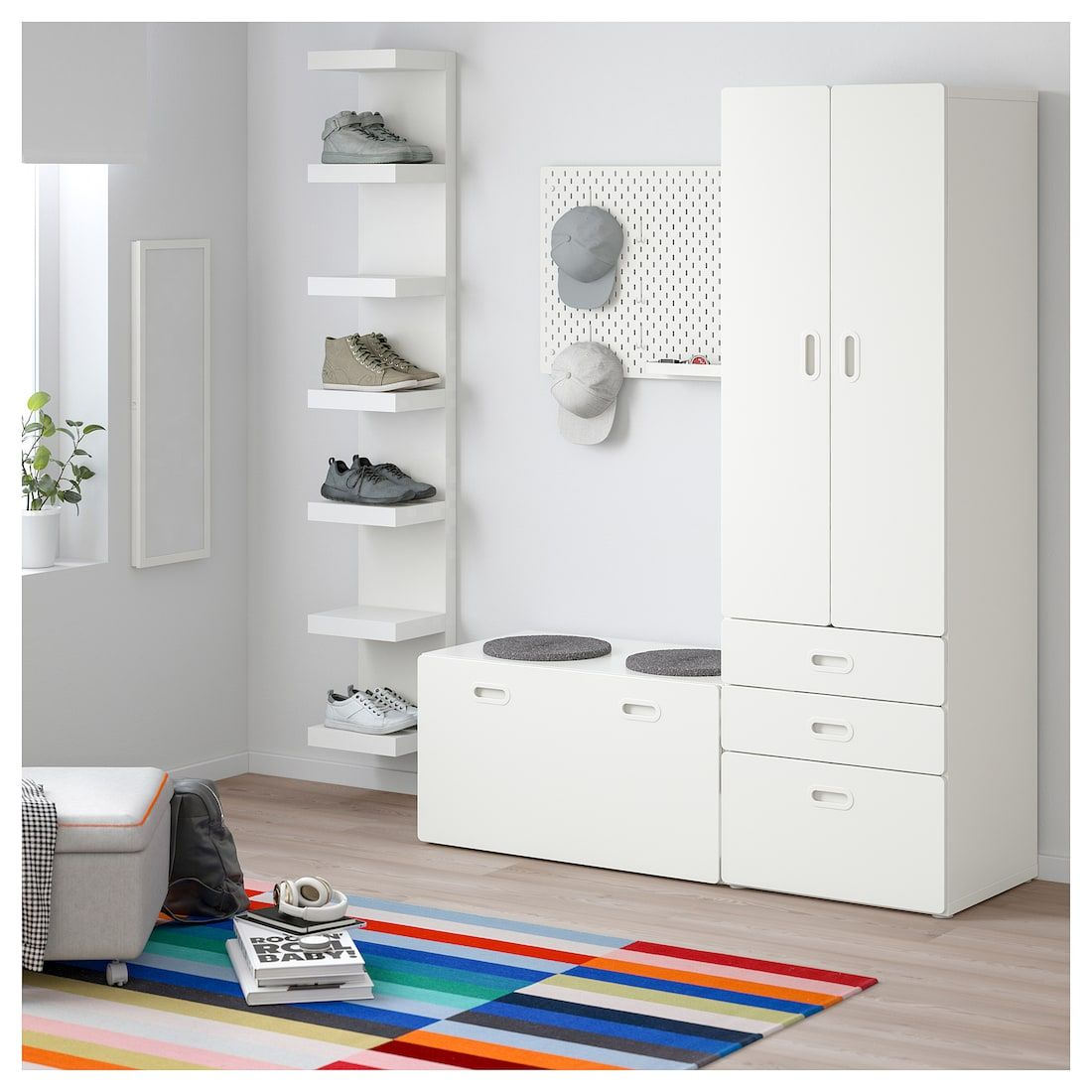 Superb Stuva Fritids Wardrobe With Storage Bench White White Gmtry Best Dining Table And Chair Ideas Images Gmtryco