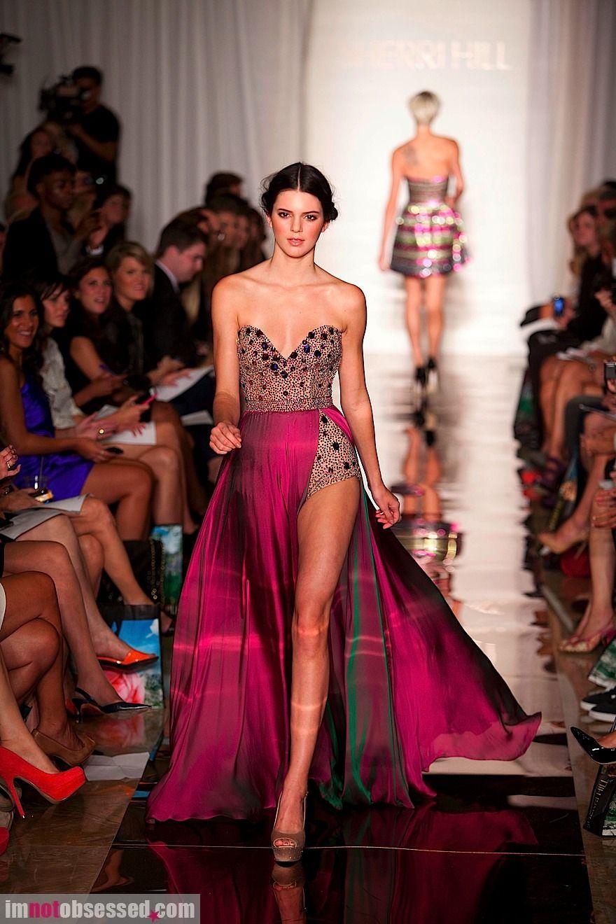 Kendall Jenner for Sherri Hill - Runway - Spring 2012 Mercedes-Benz Fashion Week