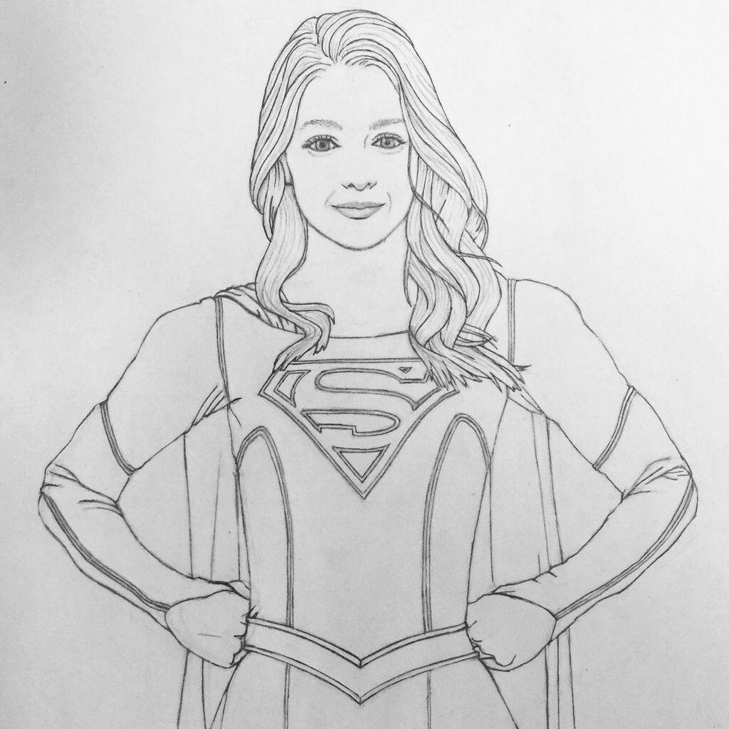 Pin von Damien Stanley auf Supergirl Coloring Pages | Pinterest