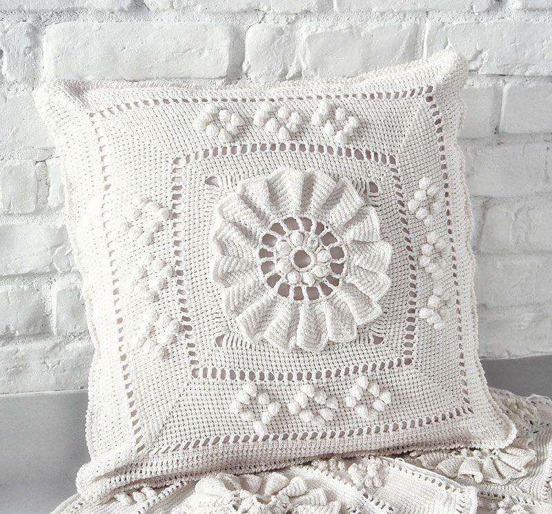 crochet pillow | Puter | Pinterest | Tejido, Ganchillo y Manta