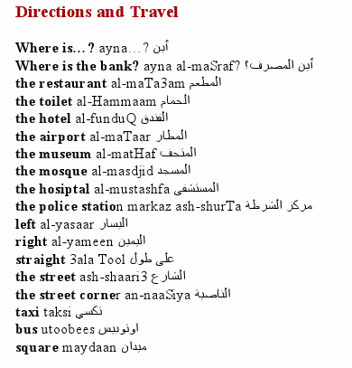 arabic directions travel s c h o o l arabic sentences learning arabic learn arabic alphabet. Black Bedroom Furniture Sets. Home Design Ideas