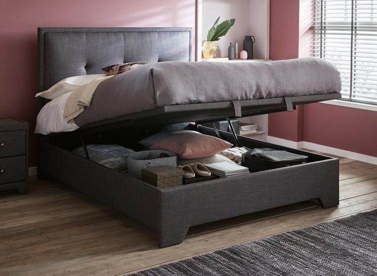 Hopkins Fabric Upholstered Ottoman Bed Frame Beds Pinterest