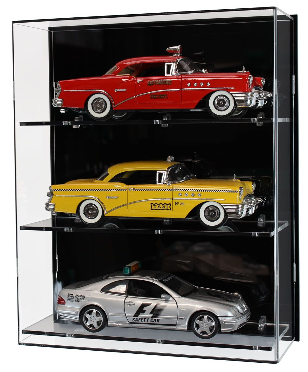 627d4200 Acrylic Wall Display Case for Three 1:18 Scale Model Cars | display ...