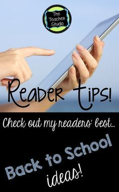 Back to School Bash Day 3:  Reader Tips!