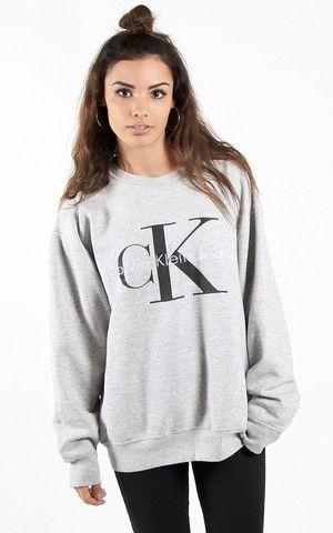 Vintage Calvin Klein Sweatshirt Outfit Tumblr Kleidung Calvin Klein Sweatshirt