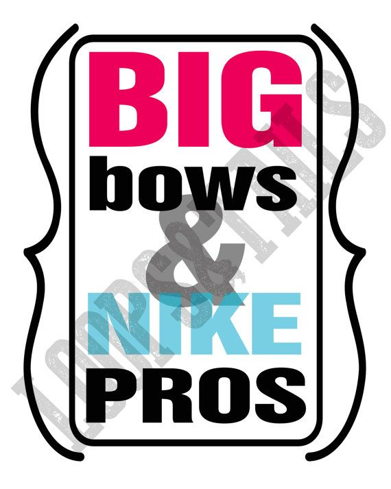 big bows and nike pros cheer printable printables pinterest rh pinterest com Nike Cheer Bows Nike Air Cheer Shoes