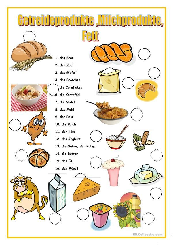 GETREIDEPRODUKTE | Deutschunterricht | Pinterest | Getreideprodukte ...
