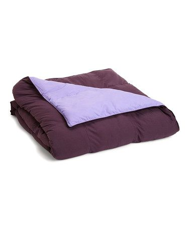 Another great find on #zulily! Plum & Lilac Reversible Microfiber Comforter #zulilyfinds