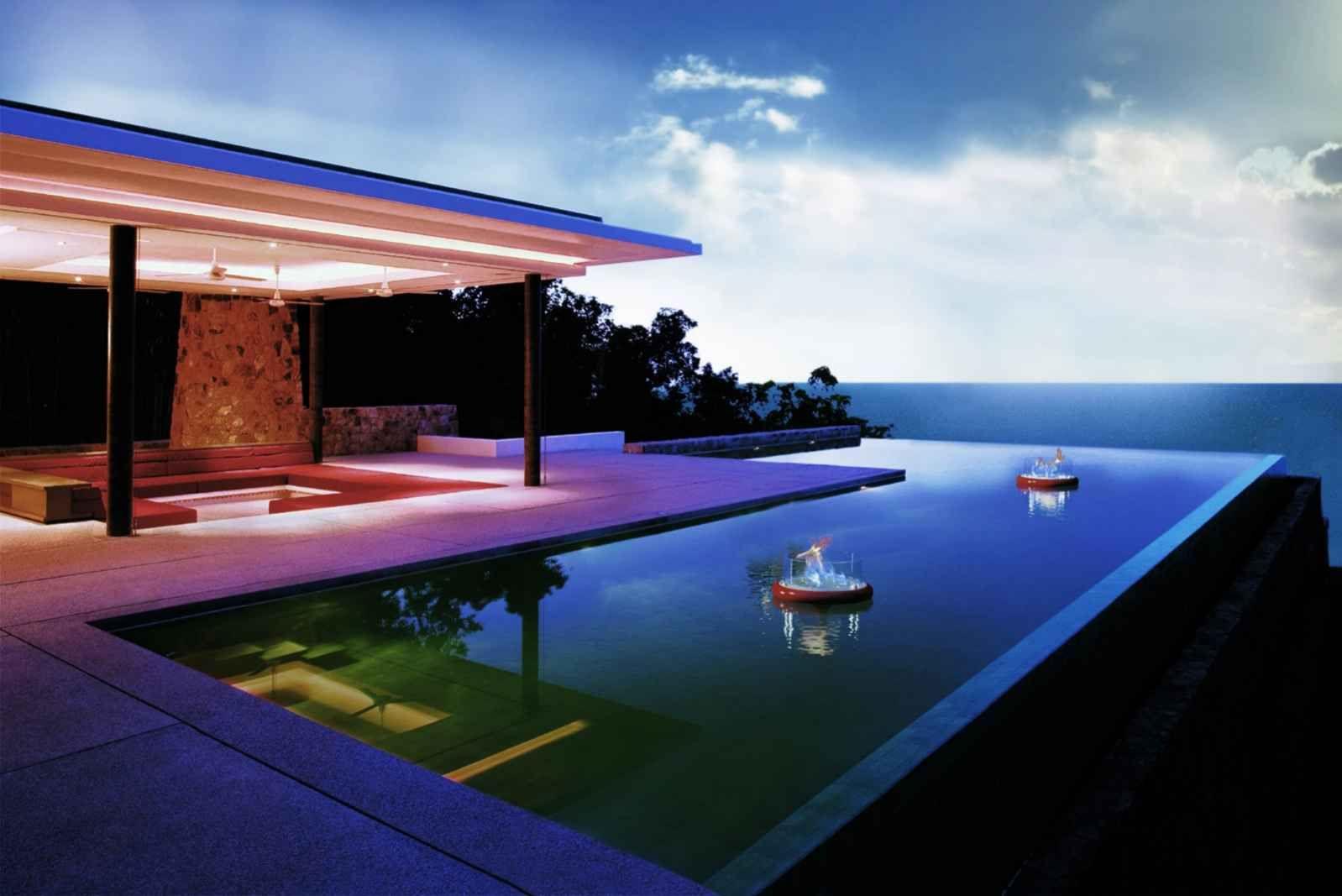 Ideen Für Pool Terrasse : Deko Bioethanol Kamin Von Glamm Fire