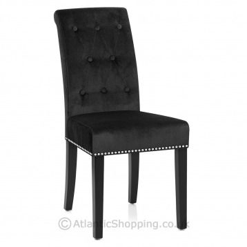 Moreton Dining Chair Black Velvet Dining Chairs Chair Cool Chairs