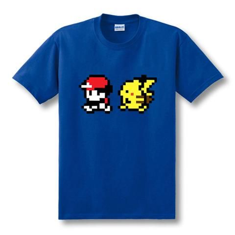a8e68621 ... Pokemon tee available now! Red and Pikachu best friends walking shirt -  GeoDapper