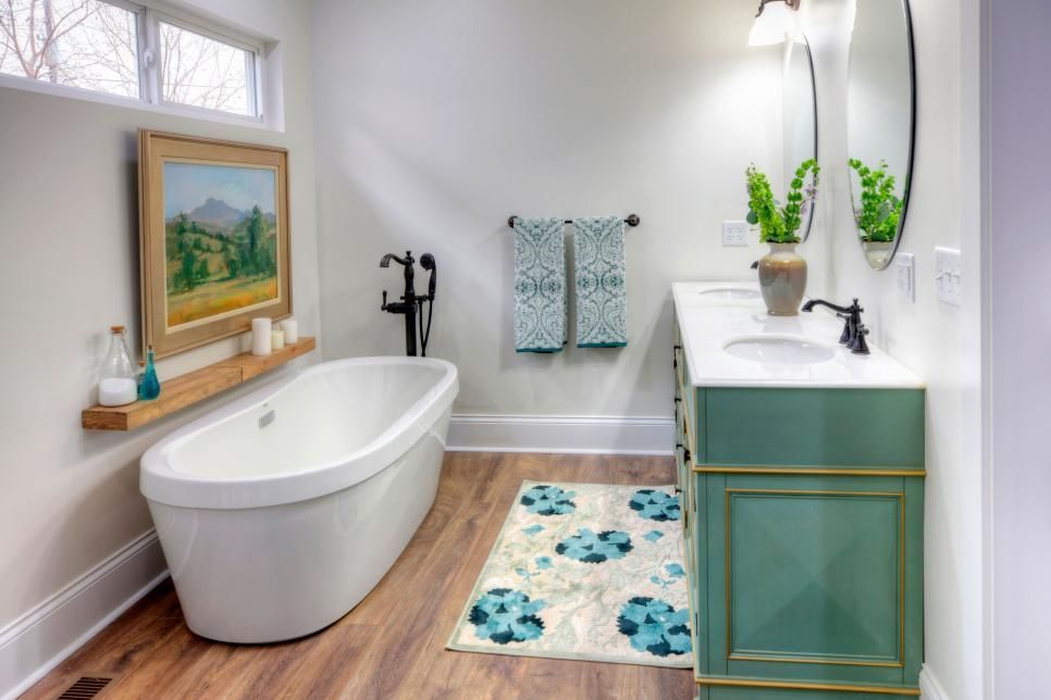 7 Ways To Save Money On Your Bathroom Remodel Small Bathroom Makeover Contemporary White Bathrooms Bathroom Makeover