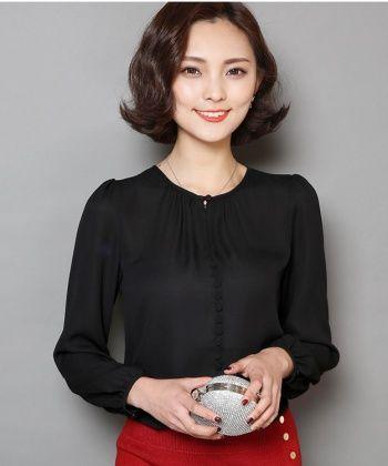 EC04989 Spring gauze T-shirt pure bottoming shirt for women