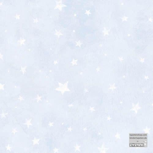 Blass Blau Mit Wischtechnik Optik Grosse Und Kleine Weisse Sterne