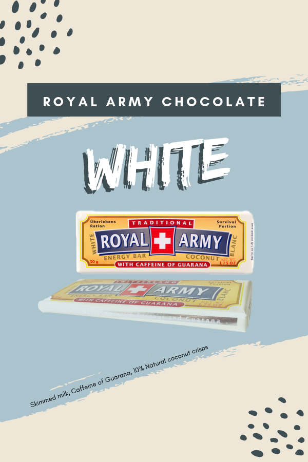This Gourmet Inspired Royal Army White Chocolate Bar Is Both