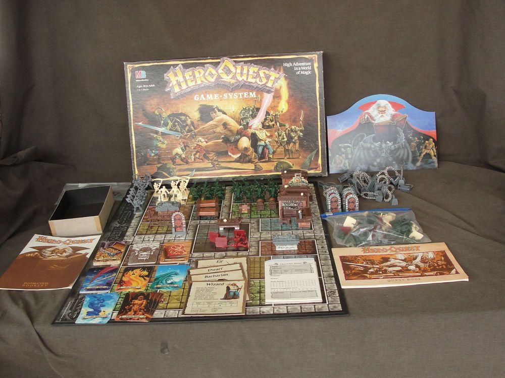 1990 Heroquest Board Game Milton Bradley Multiple Sets