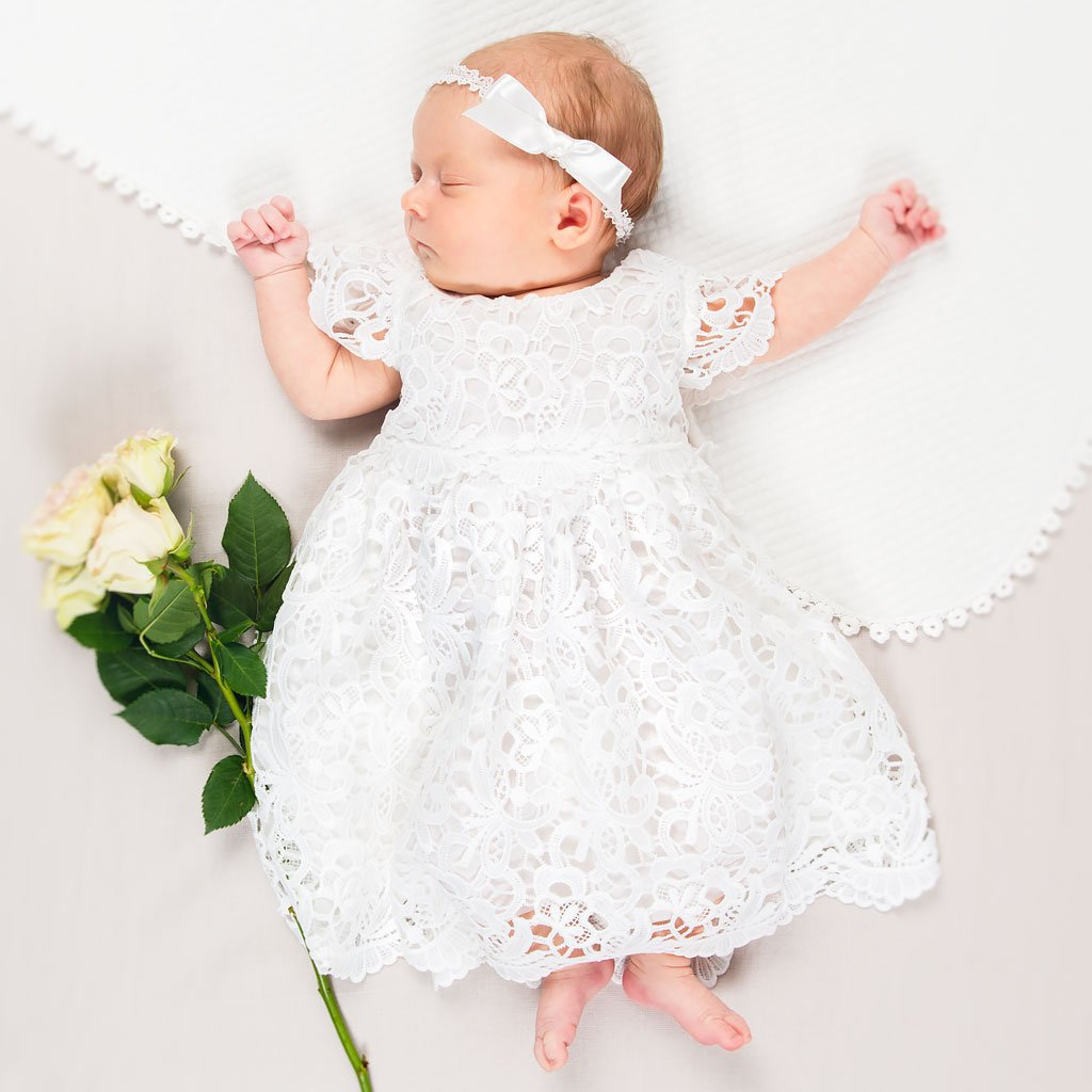 Lola Newborn Christening Dress  Girl christening dress, Baptism