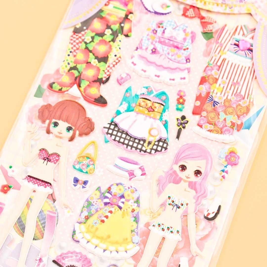 Mind wave dolly dolly costume sticker set japan