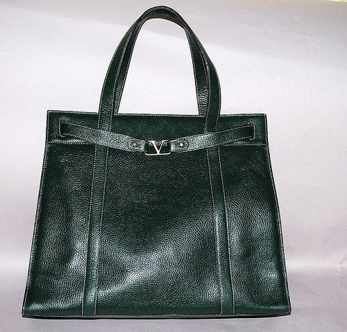 Authentic Valentino Extra Large Dark Green Shoulder by PurseAngels, $698.00
