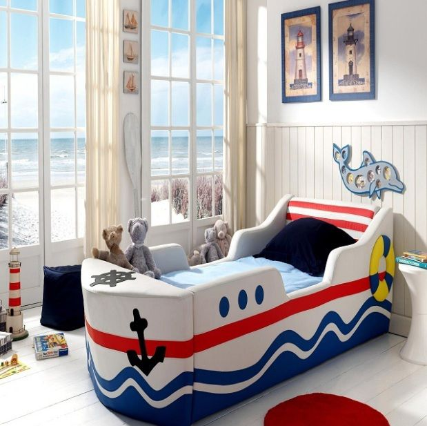 Toddler Room Ideas For Boys With Boat Bed Frame Decolover