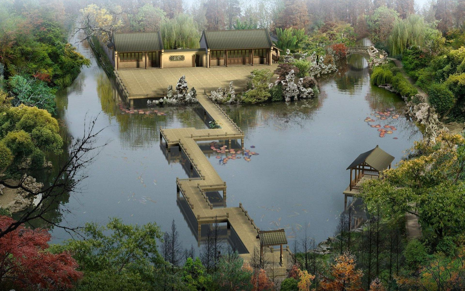 images for minecraft japanese garden - Minecraft Japanese Village