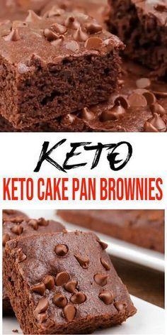 Keto Brownies! BEST Low Carb Cake Pan Fudgy Chocolate Brownie Idea – Quick & Easy Ketogenic Diet Recipe – Keto Friendly & Beginner – Desserts – Snacks