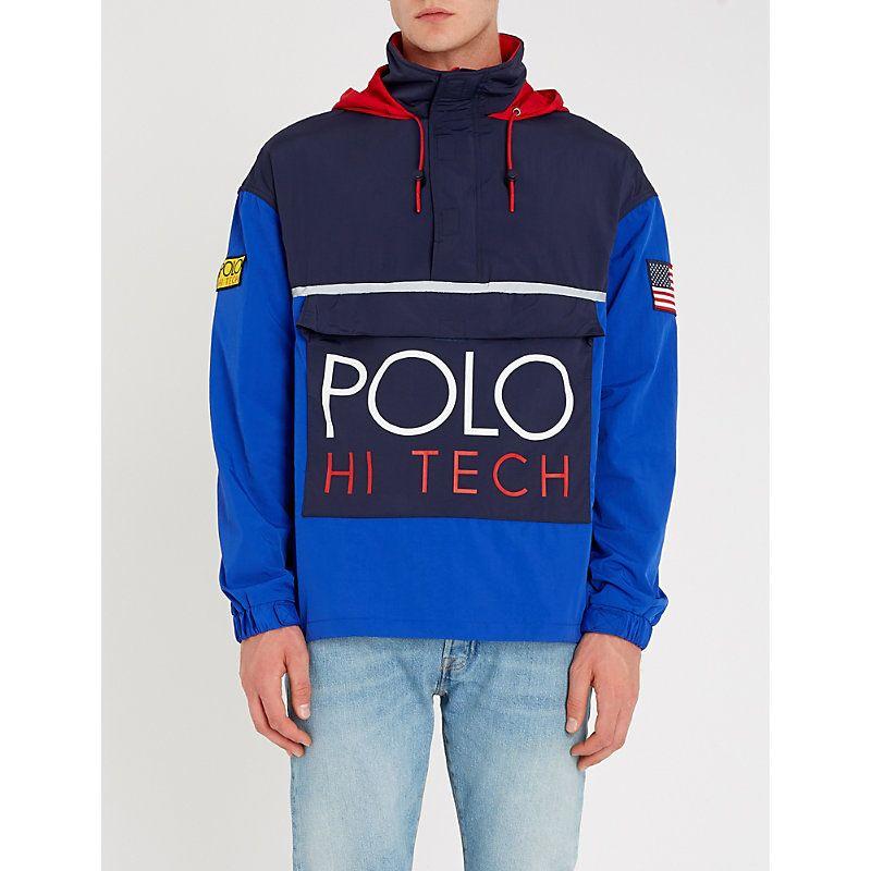 Polo ralph lauren hi tech logoprint shell jacket